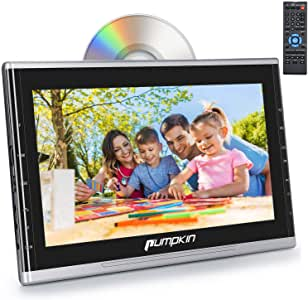 PUMPKIN 10.1 Inch Car Headrest DVD Player Support HDMI Input, 1080P Video, AUX, Region Free, Last Memory, AV in Out, USB SD, with Suction Drive