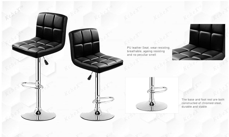 Tremendous Amazon Com Kchex Bar Stools Kitchen Dining Inzonedesignstudio Interior Chair Design Inzonedesignstudiocom
