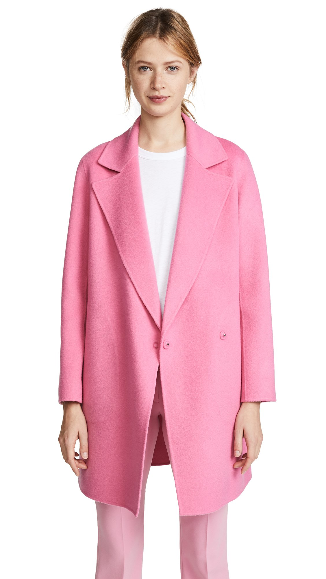 Theory Women's Boy Coat, Orchid Pink, S