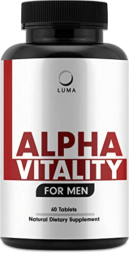 Alpha Vitality – Natural Male Enhancing Pills – Testosterone Booster for Men – Male Enhancement – Test Boost – 60 Pills