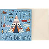 J&G Greeting Cards Happy Birthday Camping Card - Multi Color
