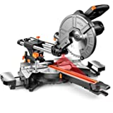 Sliding Compound Miter Saw, 10-Inch, 15 Amp, 2 Variable Speeds (4500 & 3200 RPM) with Bevel Cut (0-45°), 3 Blades (2 40T 1 48