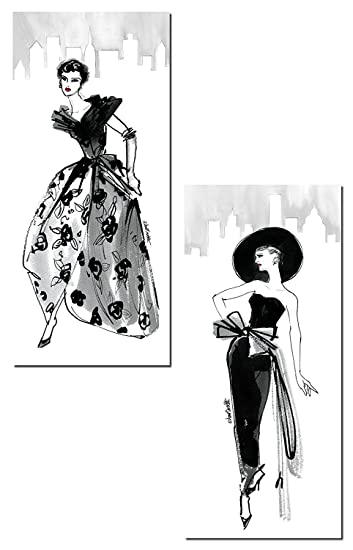 Amazoncom Trendy 50S Fashion Model Sketch Panel Sets by Anne