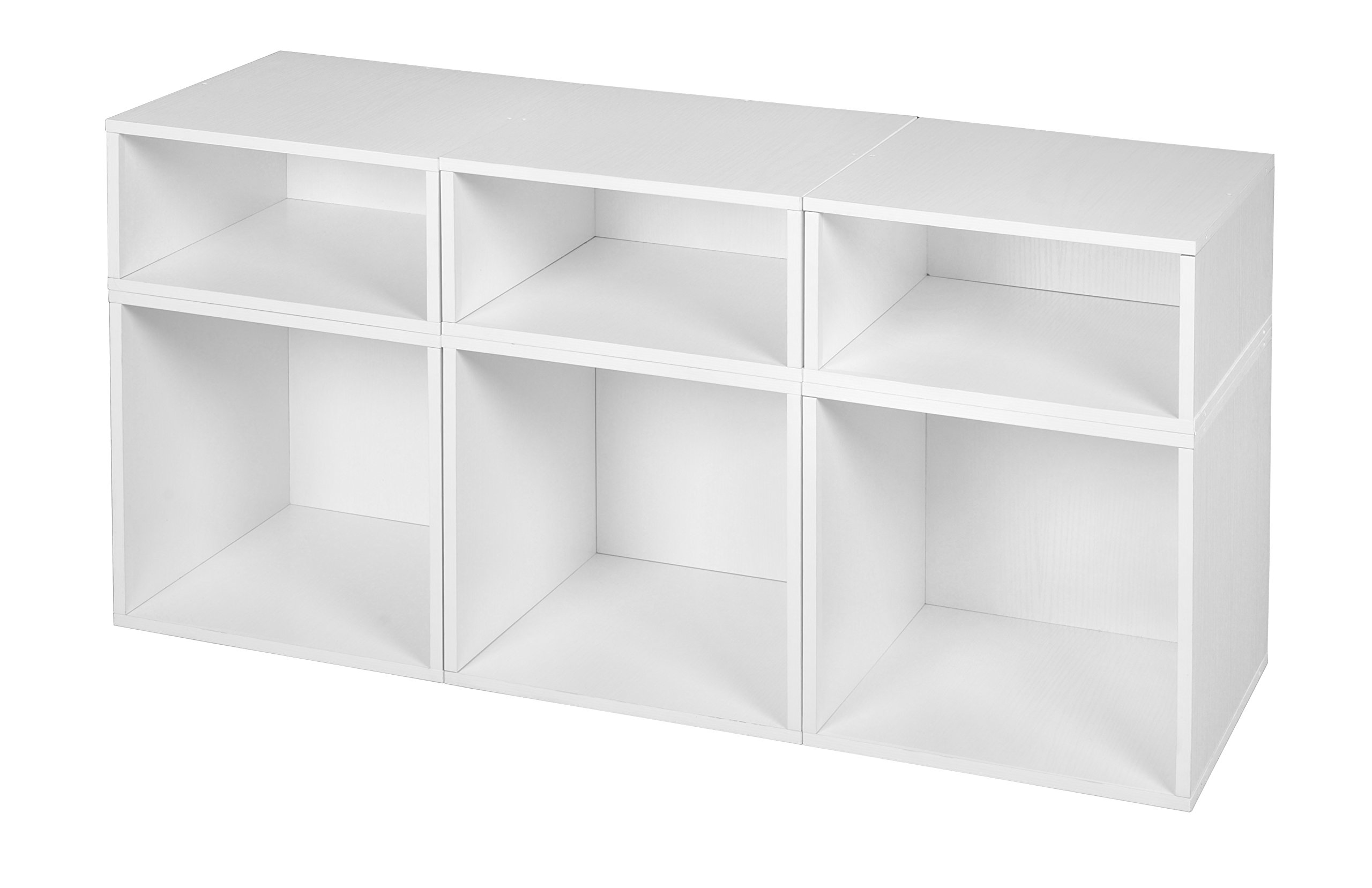 Niche PC3F3HPKWH Cubo Deluxe Storage Set with with Full and Half Size Cubes, 3 3, White