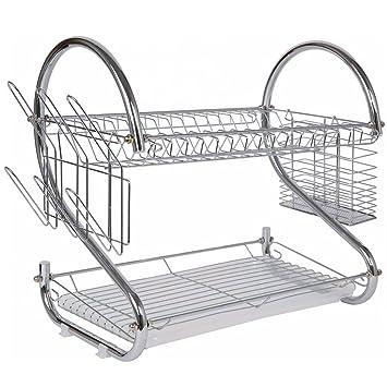 Amazon.com: Juego de escurridor y secador de platos, 2 ...