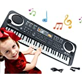 Keyboard Piano Kids 61 Key Electronic Digital Piano Musical Instrument Kit with Microphone Music Home Teaching Christmas…