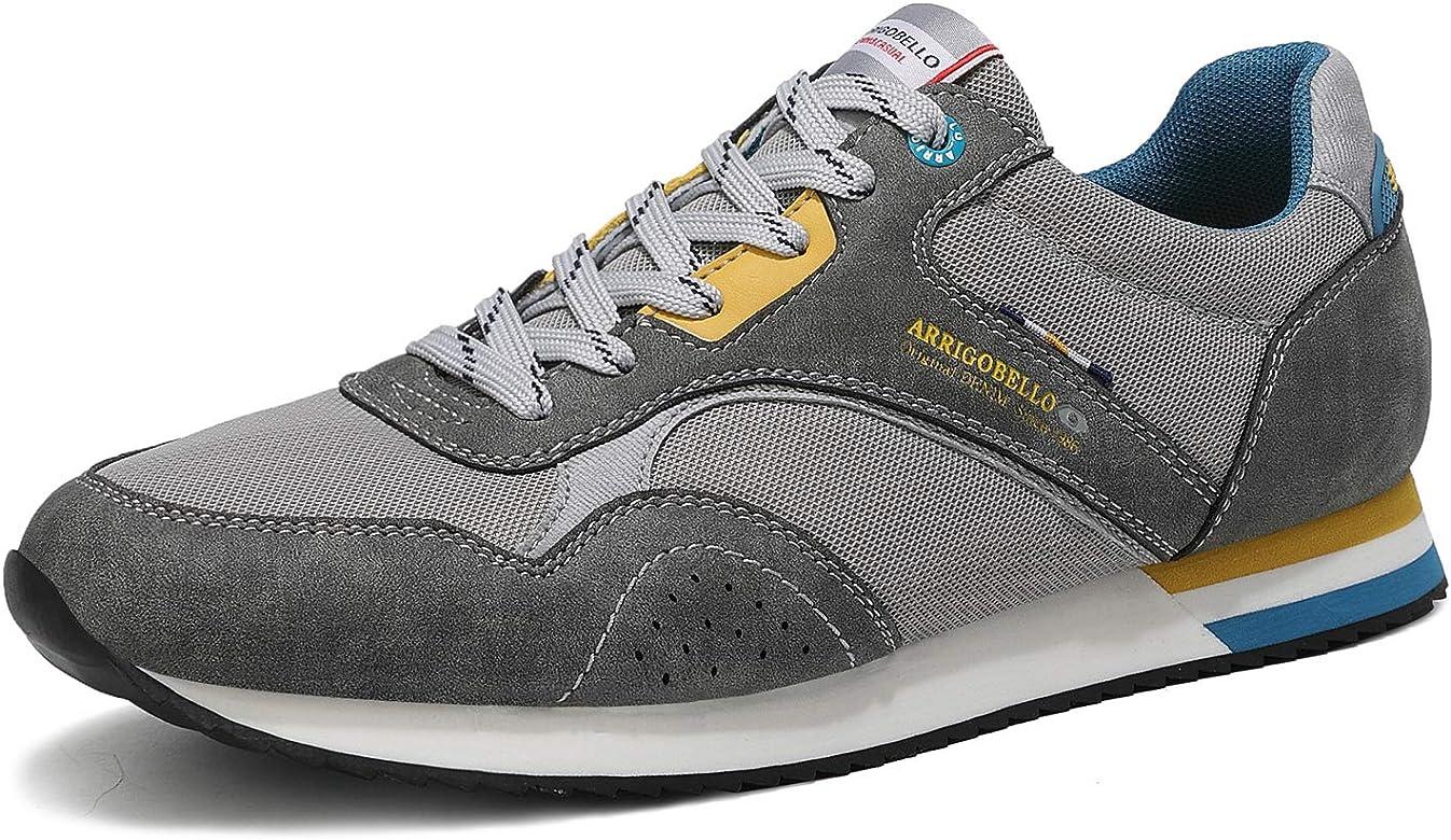ARRIGO BELLO Zapatillas Deportivas Hombre Running Zapatos Vestir Casual Transpirables Sneakers Gimnasio Correr Tamaño 40-46 (42 EU, Gris Oscuro): Amazon.es: Zapatos y complementos