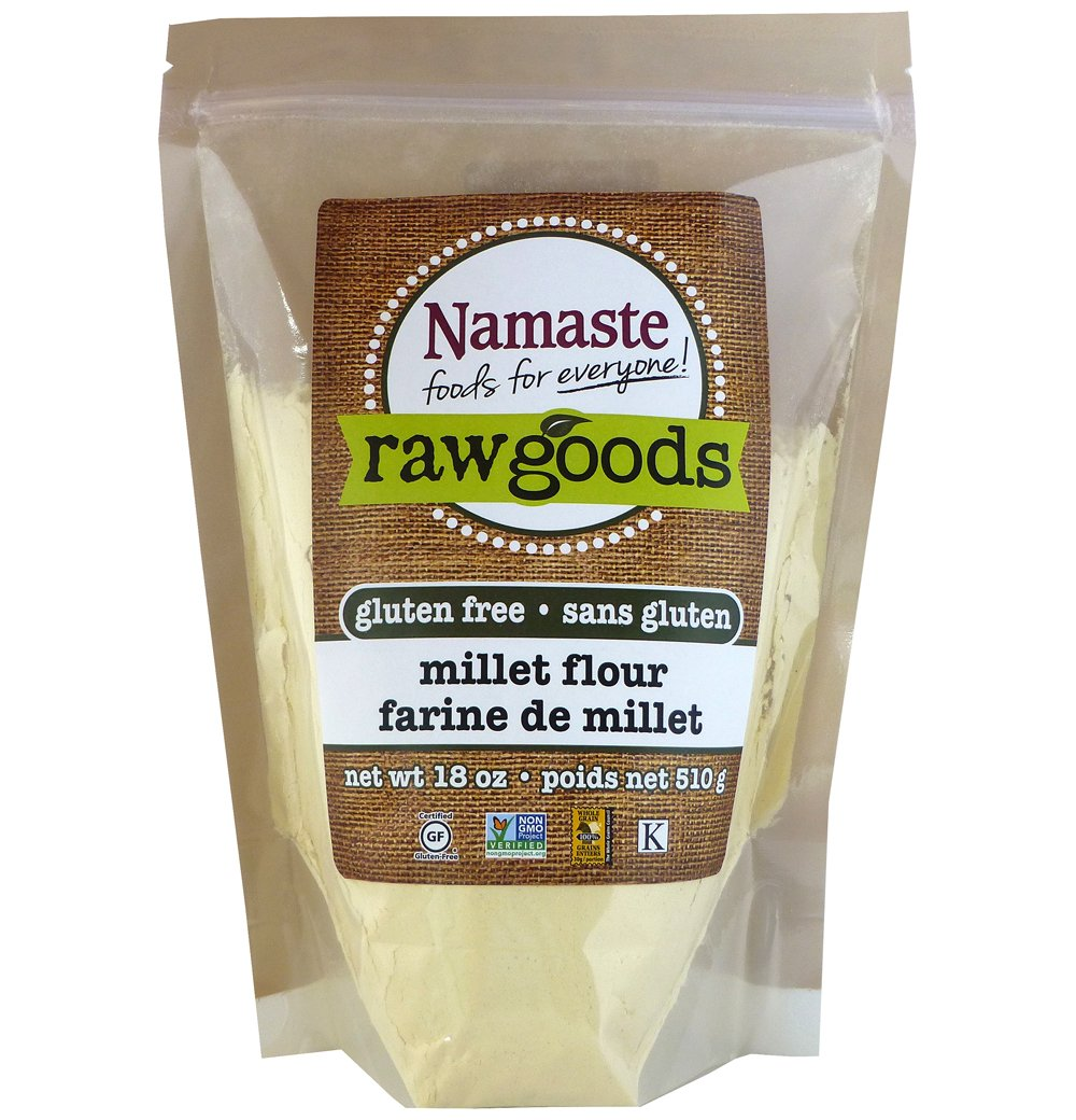 Namaste Foods Millet Flour, 18 Ounce (Pack of 6)