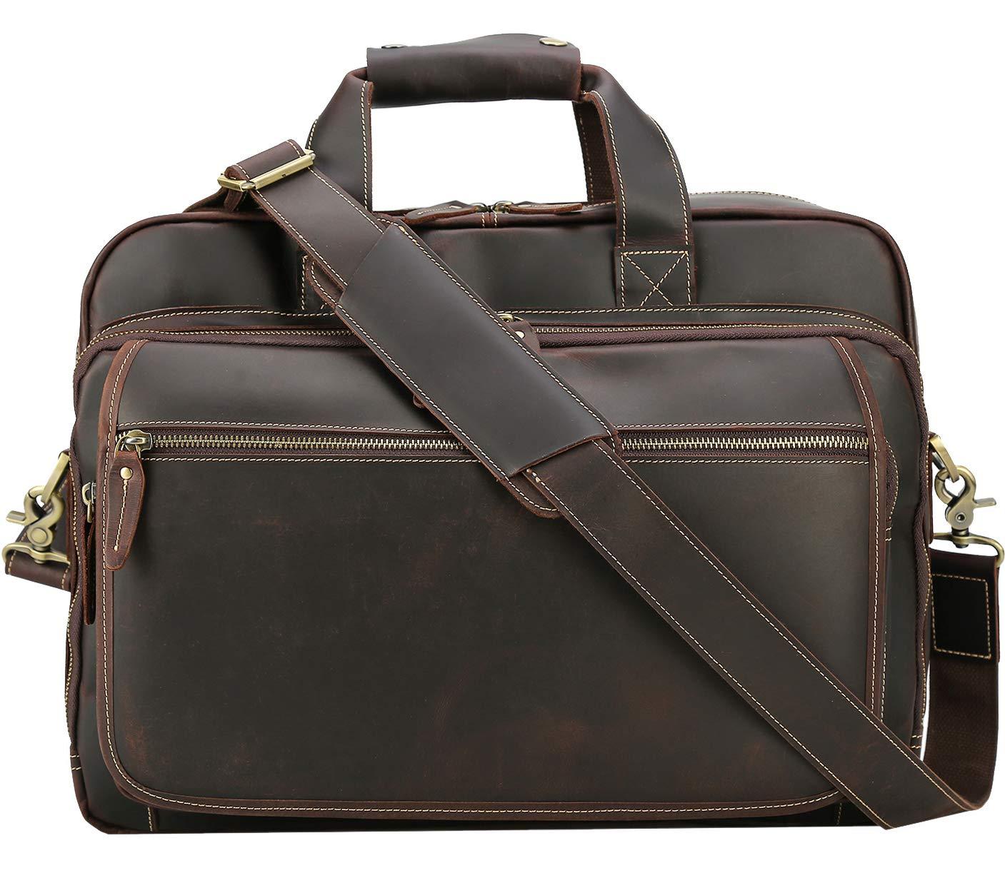 Amazon.com  Polare Men s Full Grain Leather Professional 17