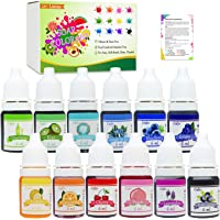 12 Color Bath Bomb Soap Dye - Skin Safe Bath Bomb Colorant Food Grade Coloring for Soap Making Supplies, Natural Liquid…