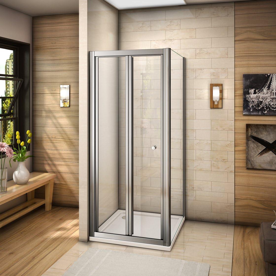 Mamparas de ducha cabina de ducha plegable puerta + lateral fijo ...