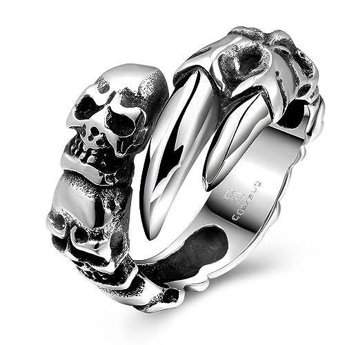 Amazon.com: Para hombre Ancient Maya joyas anillos de acero ...