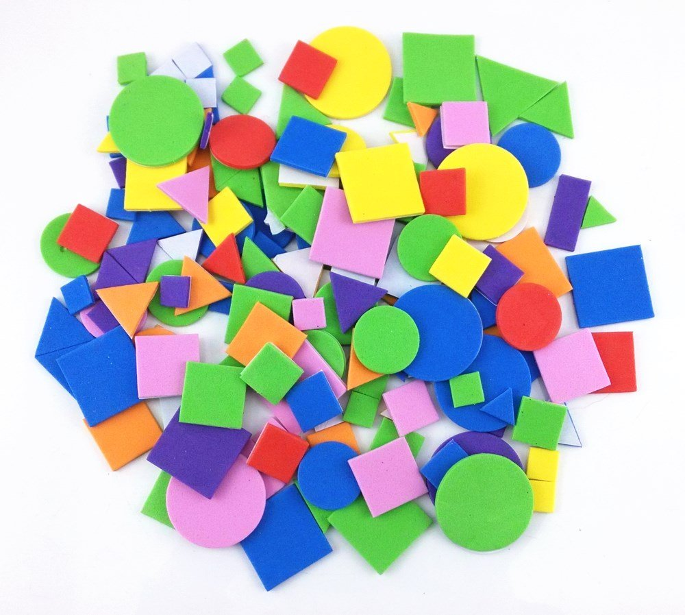 Honbay 150pcs Colorful Self Adhesive Geometry Foam Stickers 4336984566