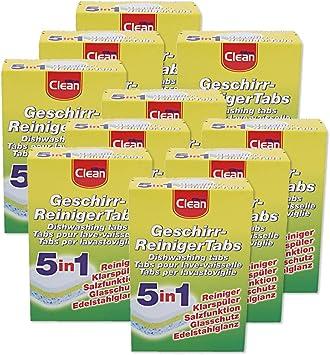 10 Set Vajilla reinige rtabs 5 en 1/Elina Clean/lavavajillas Tabs ...