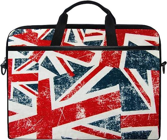 Vintage UK Union Jack Flag Laptop Case Shoulder Strap with Handle Portable Notebook Computer Bag for 13 13.3 14 15 inch WowPrint Laptop Sleeve