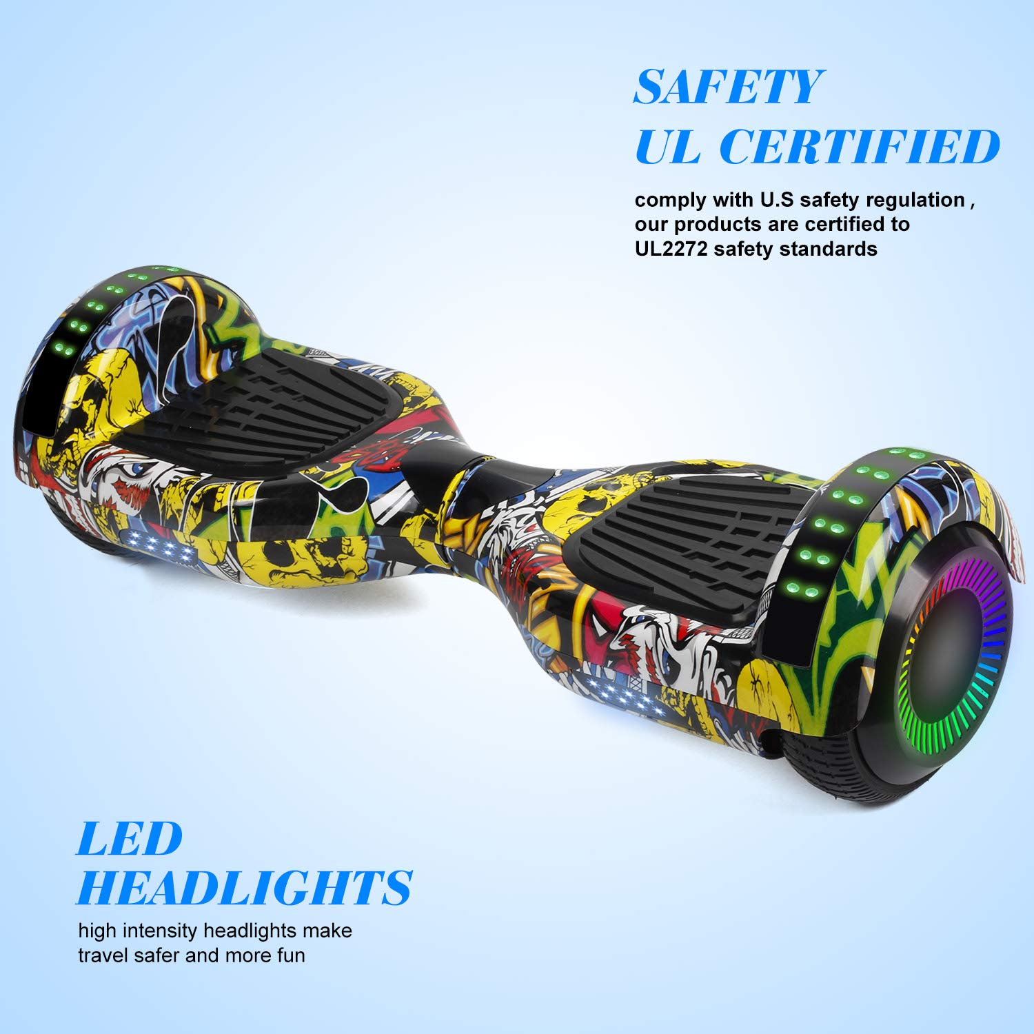SWEETBUY Hoverboard Two-Wheel Self Balancing Electric Scooter UL 2272 Certified,6.5 inch Self Balancing Scooter with Carry Bag by SWEETBUY (Image #3)