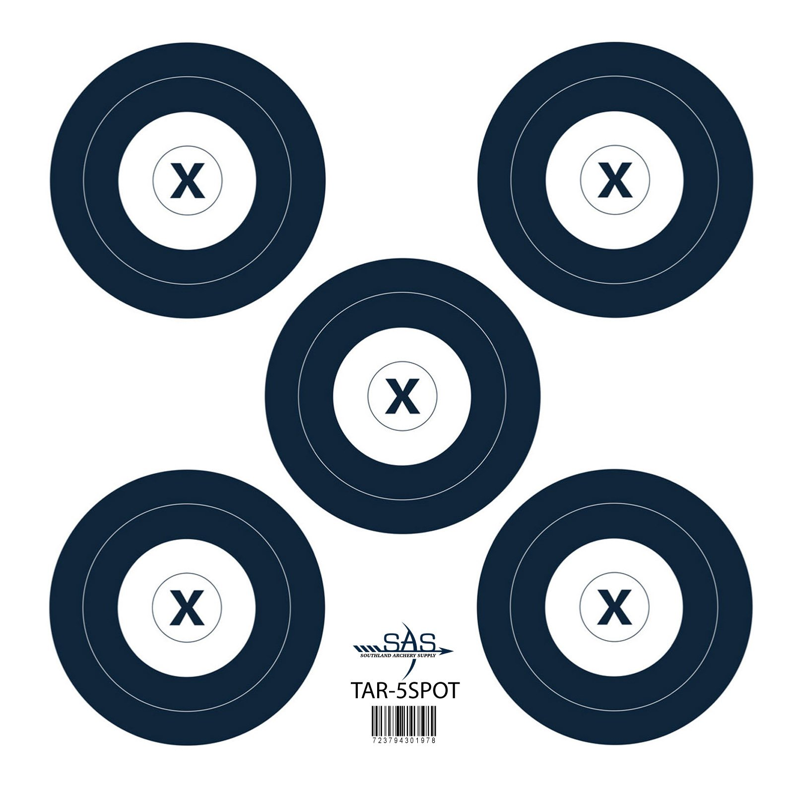 SAS 5-Spot Paper Target 18 in/45 cm (12) by Southland Archery Supply (Image #1)
