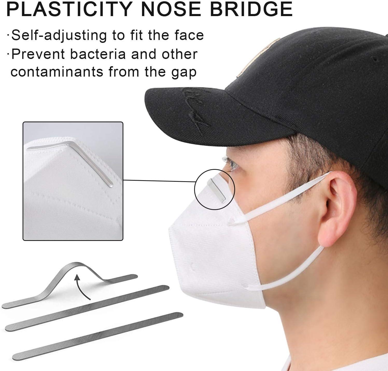 100pcs Nose Bridge Strips Adjustable Metal Strips Straps Nose Clips Face DIY Making Accessories for Sewing Crafts Aluminum Nose Bridge Wire Bracket