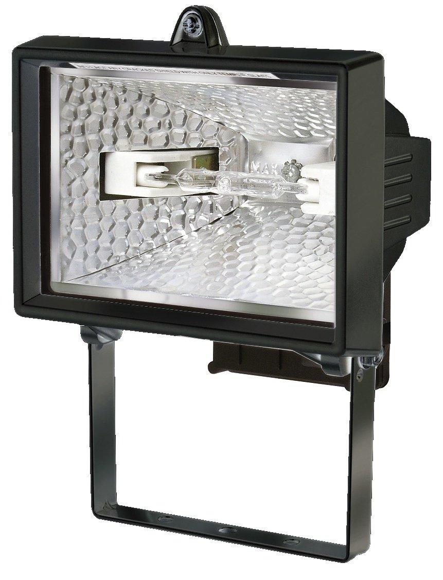 Brennenstuhl Halogenstrahler / Flutlicht Halogen ideal als Baustrahler zur Montage auf Stativ (Auß enstrahler IP54 geprü ft, 400 Watt) Farbe: schwarz 1171380