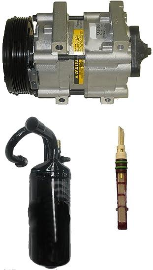 apdty f1tz19 V703garm AC Compresor Kit incluye nuevo Compresor, secador, y orificio tubo para