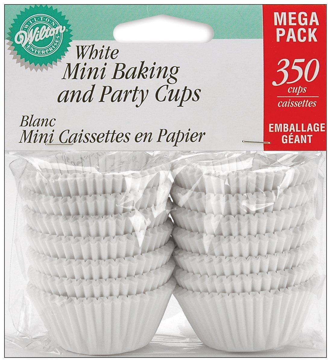 Wilton Baking Cups, Mini, White, 350-Count 415-5257