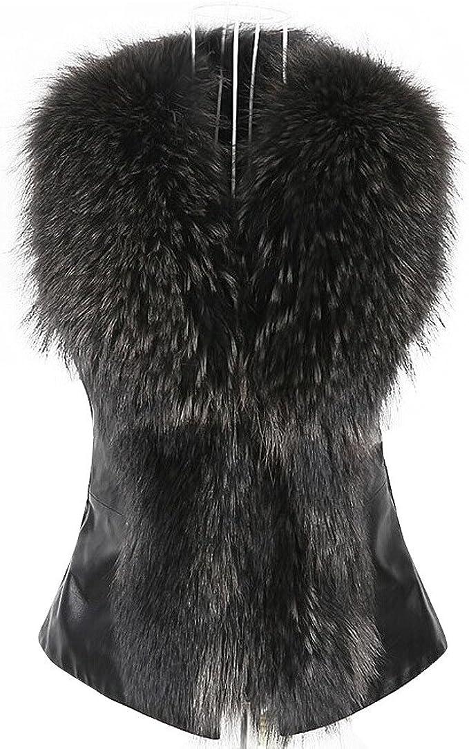 Kehen Girl Faux Fur Soild Color Vest Jacket Thick Sleeveless Coat Warm Waistcoat Outerwear Khaki, 4T