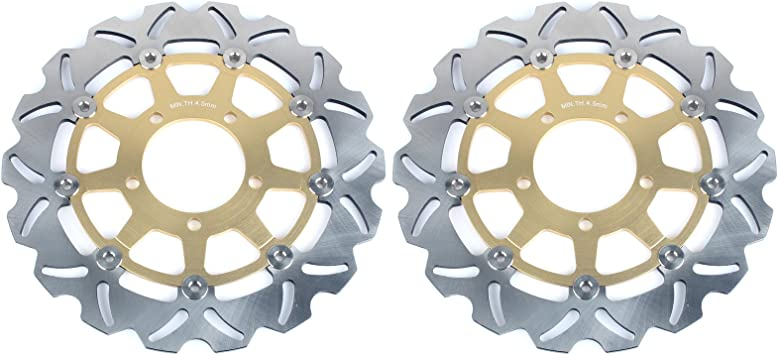 TARAZON 1 Pair Front Brake Discs Rotors for CB 600 F Hornet or ABS 2007-2013// CBR600F or ABS 2011 2012 2013