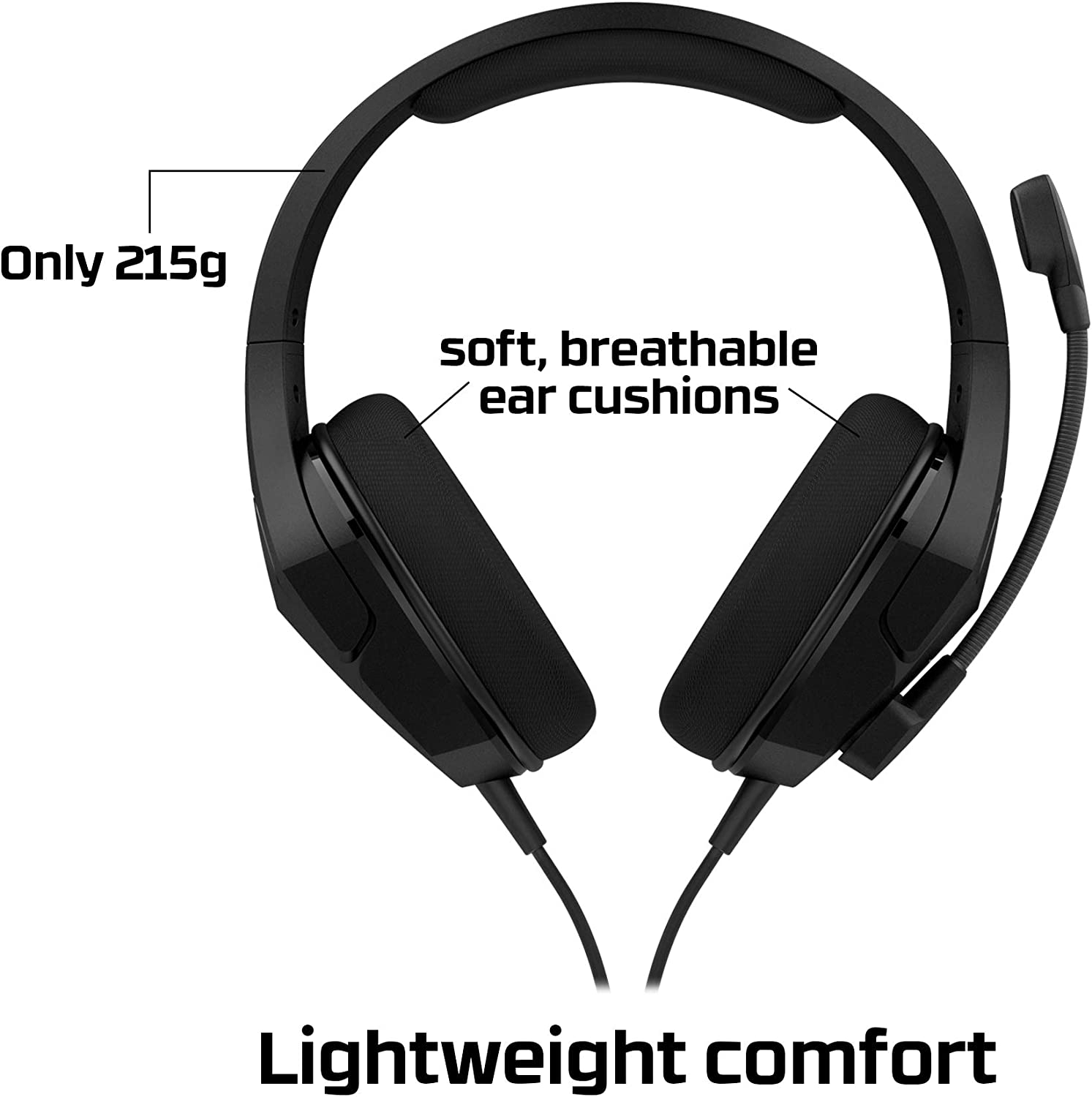 Noise Cancelling Microphone HyperX Cloud Stinger Wireless Gaming Headset with Long Lasting Battery Upto 17 Hours of Use Comfortable Memory Foam and Designed for PC Immersive In-Game Audio