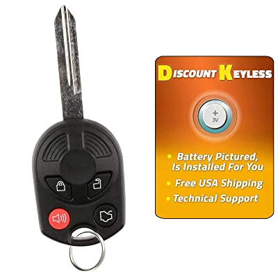 For 00-16 Ford Lincoln Mercury Mazda Keyless Entry Remote Key Fob Uncut 4btn OUCD6000022 164-R7043: Automotive [5Bkhe1001178]