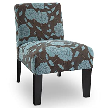 Deco Rose Parsons Chair Color: Blue Rose