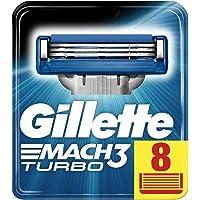 Gillette Mach3 Turbo men's razor blade refills, 8 count