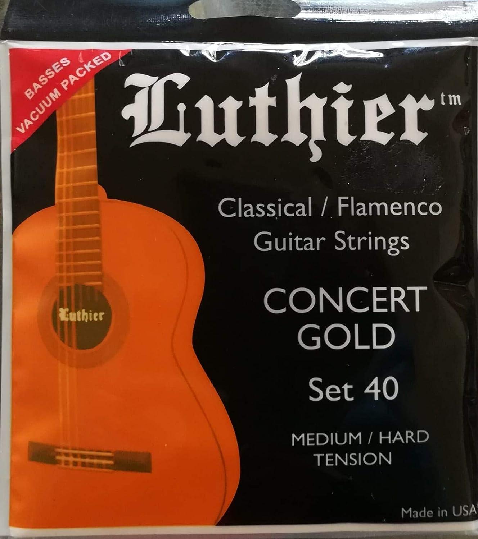 Regla Set 40 Concert Oro Cuerdas de nailon para guitarra clásica ...