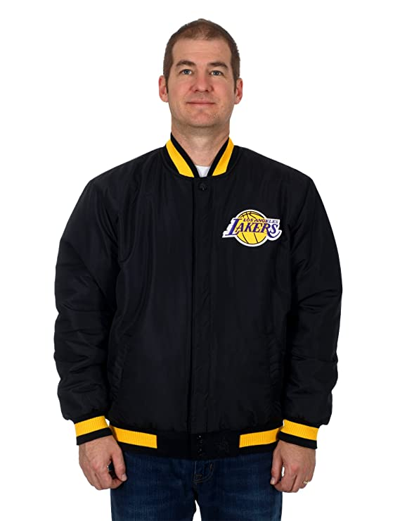 Los Angeles Lakers - Chaqueta reversible de nailon y lana w ...