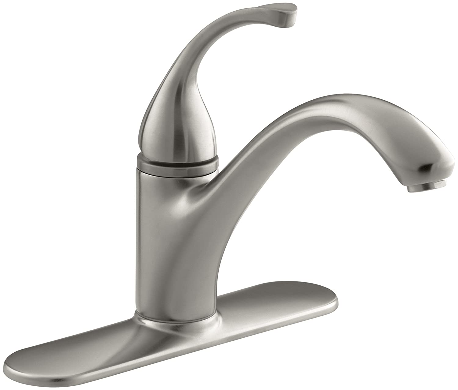 kohler k 10411 cp forte single control kitchen sink faucet with