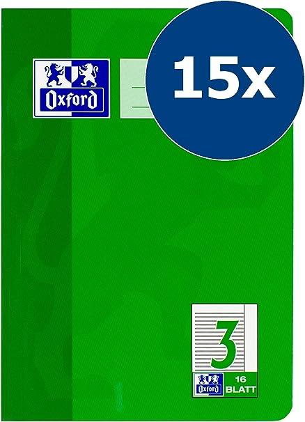 Hamelin Paperbrands 384511603 Oxford - Lote de 15 libretas de líneas (DIN A5, fondo 3, 16 hojas, con márgenes): Amazon.es: Oficina y papelería