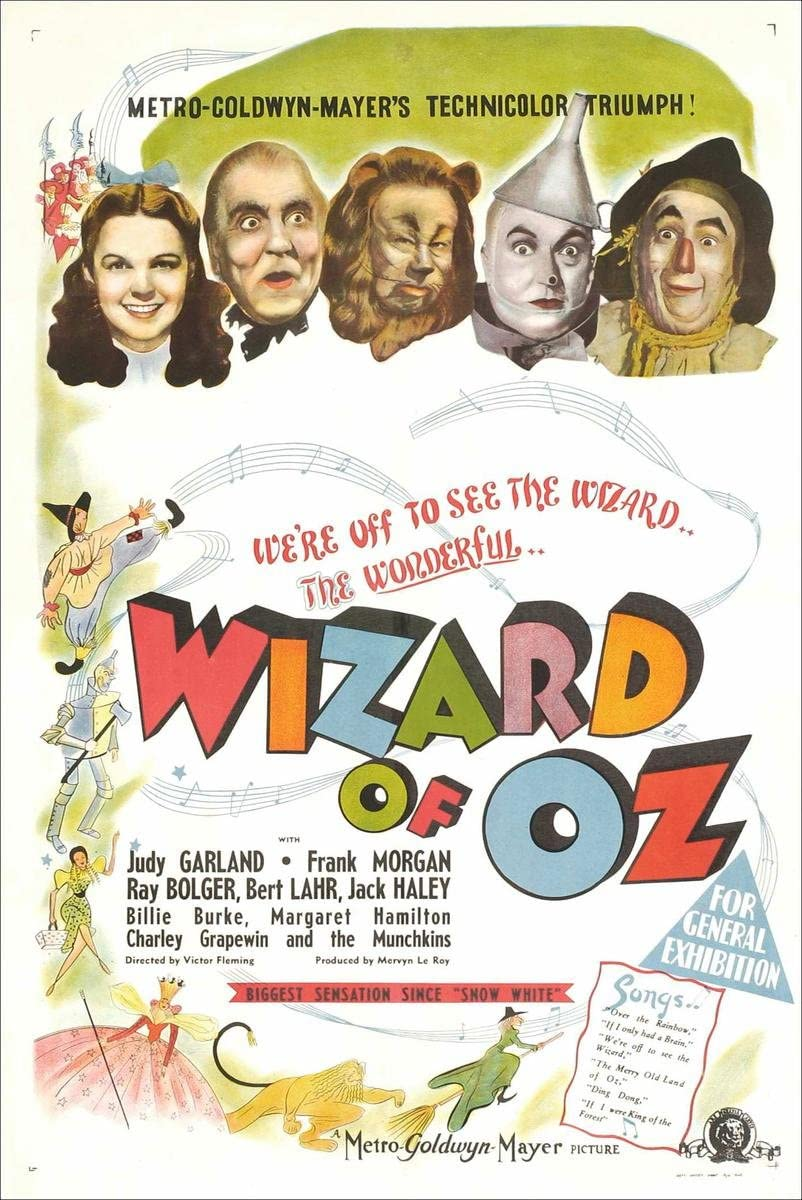 Gifts Delight Laminated 19x29 Poster Wizard of oz Movie Poster