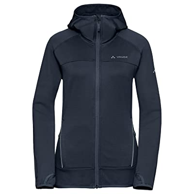 VAUDE Women's Tekoa Fleece Jacket - Casual Midlayer Hoody for Outdoor Sports - Lightweight, Stretchy and Comfortably Warm: Clothing