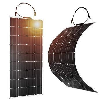 2PC Dokio Solar Panel 100W 12V 24v Monocrystalline Flexible