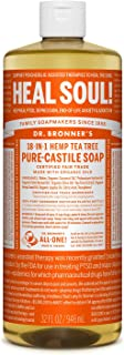 product image for Dr. Bronner's - Pure-Castile Liquid Soap (Tea Tree, 32 ounce) - Made with Organic Oils, 18-in-1 Uses: Acne-Prone Skin, Dandruff, Laundry, Pets and Dishes, Concentrated, Vegan, Non-GMO