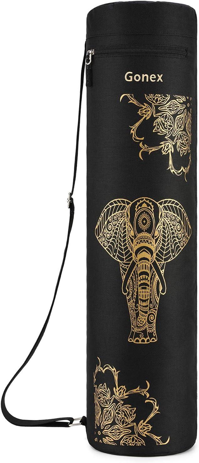 Gonex Yoga Mat Bag, Yoga Mat Carrier Full-Zip Exercise Carry Bag for Women with 2 Multi-Functional Cargo Pockets Extra Wide Adjustable Shoulder Strap