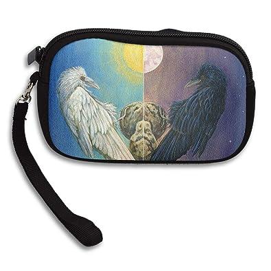 Amazon.com: Bolso de mano con diseño de pájaros negros y ...