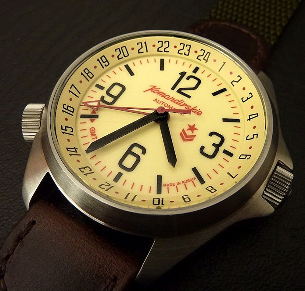 Amazon.com: Vostok Komandirskie K34 Russian Military Watch Black 2426 / 350007: Watches