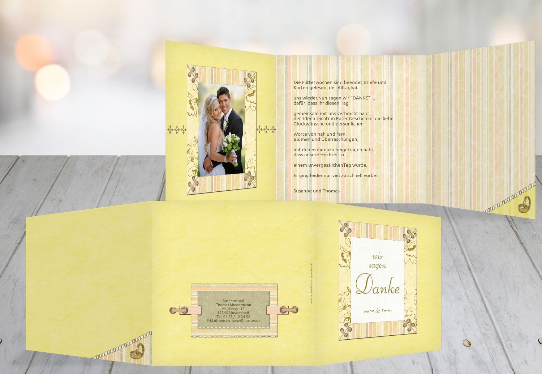 Kartenparadies Danksagung für Hochzeitsgeschenke Hochzeit Dankeskarte Bund für's Leben, hochwertige Danksagungskarte Hochzeitsglückwünsche inklusive Umschläge   20 Karten - (Format  145x145 mm) Farbe  OckerBeige B01N24W236 | Einfa