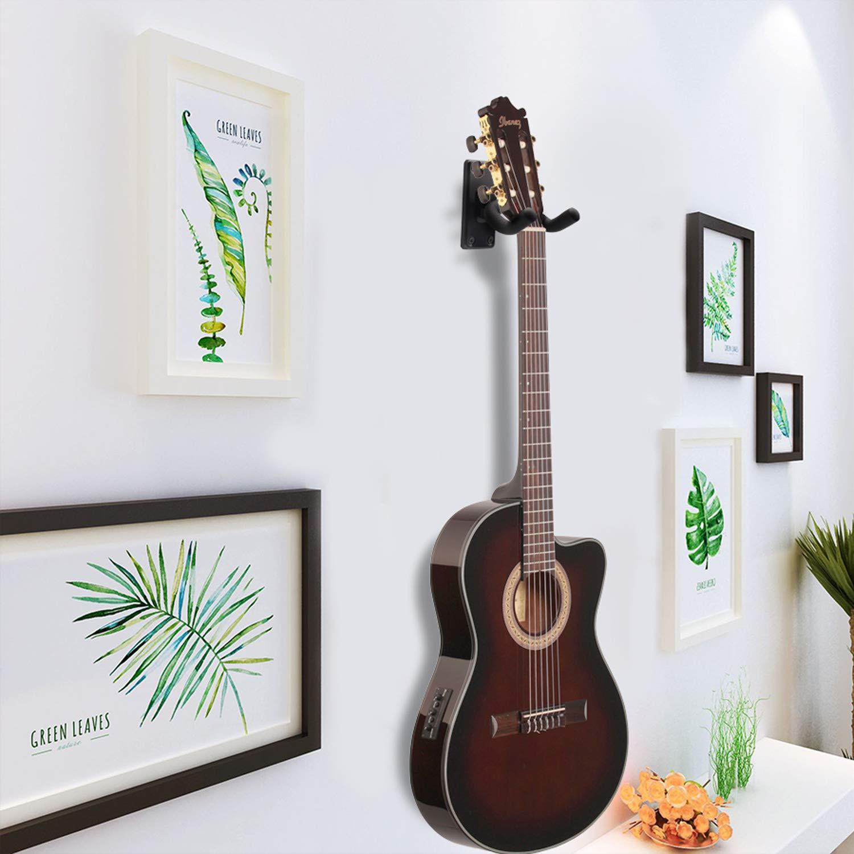 Bass Banjo 2 Pack Guitar Hanger Guitar Wall Hooks Stand Guitar Display Hanger Suitable Fits All Size Guitars Ukulele Mandolin
