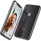 DTTO iPhone XS 専用ケース TPU ソフト 背面クリア+周りメッキ加工 超薄型 超軽量 ワイヤレス充電対応 水洗い可 傷つき防止 ブラック