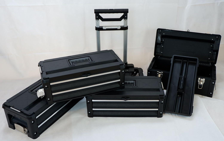 metallo werkzeugtrolley XXL Type B3/di B Black Edition con cassetto Blocco e Castello di As-S