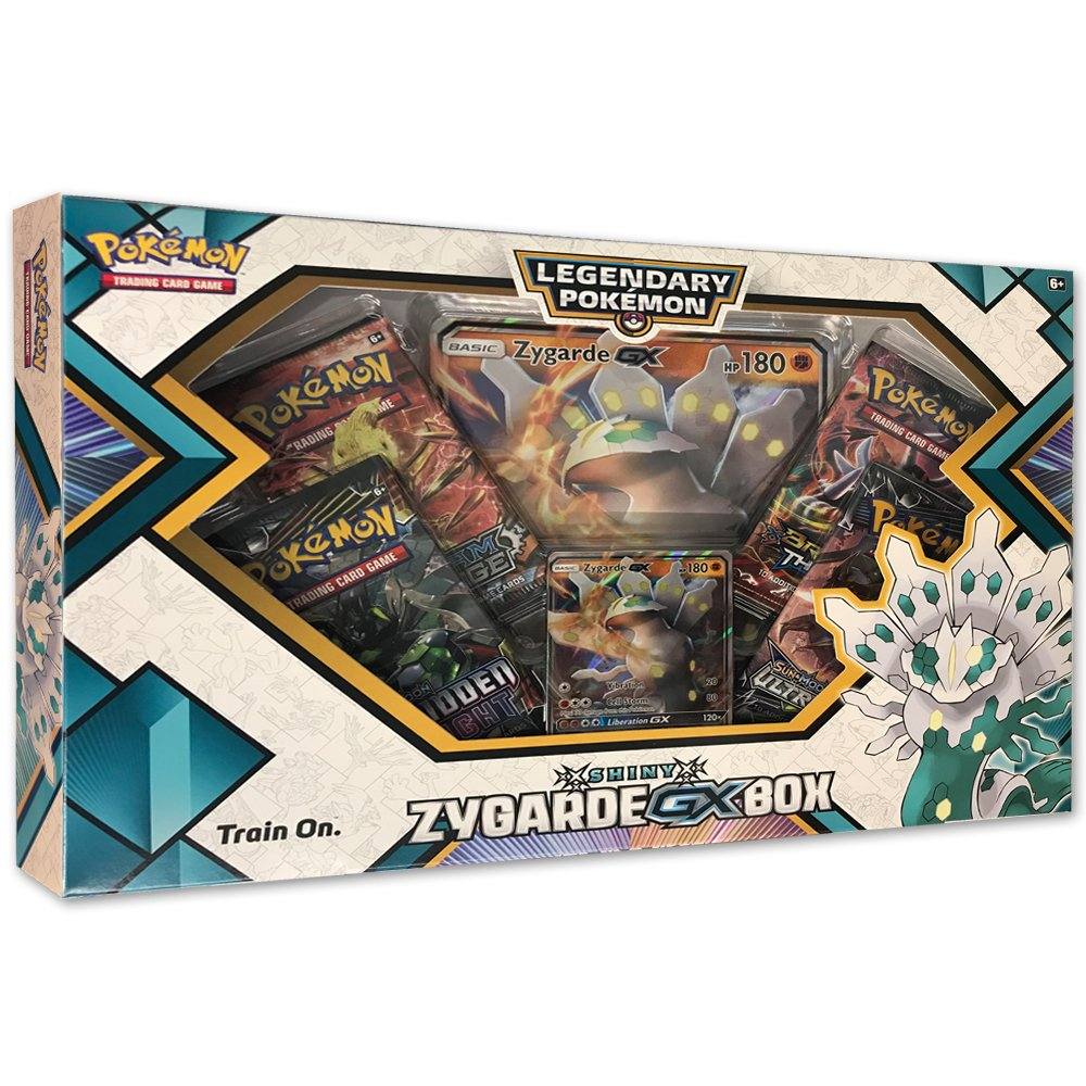 Pokemon TCG: Shiny Zygarde-Gx Premium Gx Box + 4 Booster Pack + A Foil Promo Card + A Oversize Foil Card