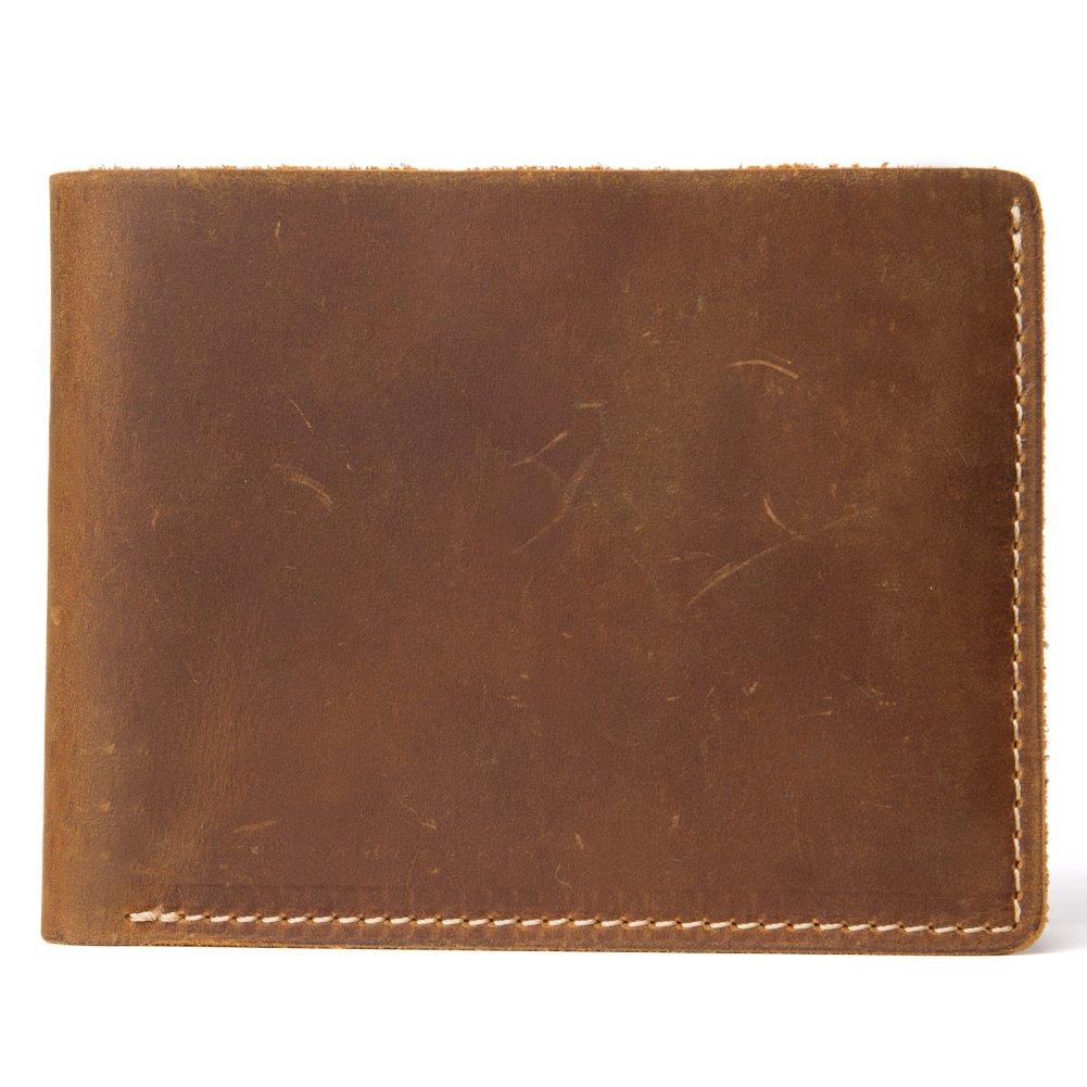 71fa131c102 BOSTANTEN Men s Genuine Leather RFID Blocking Wallet Designer Quality Purse  Cash Card Holder Brown  Amazon.co.uk  Luggage