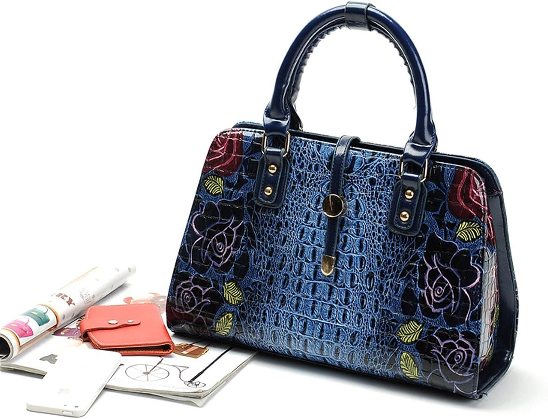 Shining4U Floral Crocodile Fashion Handbag Women Bag Casual Tote Crossbody Shoulder Bags Handbags Women Famous Brands Bolsas Femininas Chic