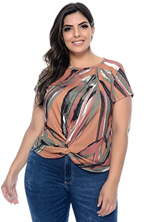 287fde576 Blusa Plus Size Texana Canelada  Amazon.com.br  Amazon Moda